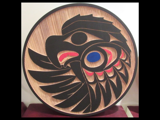 Eagle, red cedar, 2' diameter