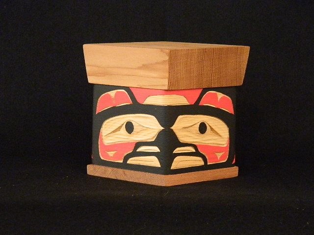 "JC: Eagle Bentwood Box, 6"" hieght"