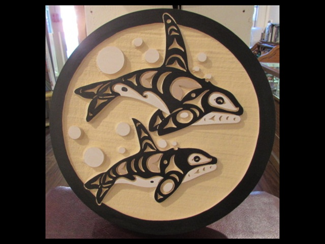 Orcas, red cedar, 1' diameter