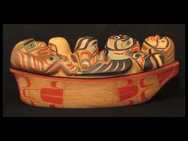 "Feast Bowl Canoe, red cedar, 24"" long"