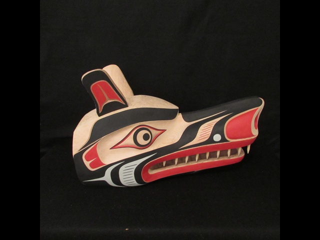 TH: Wolf Mask, red cedar