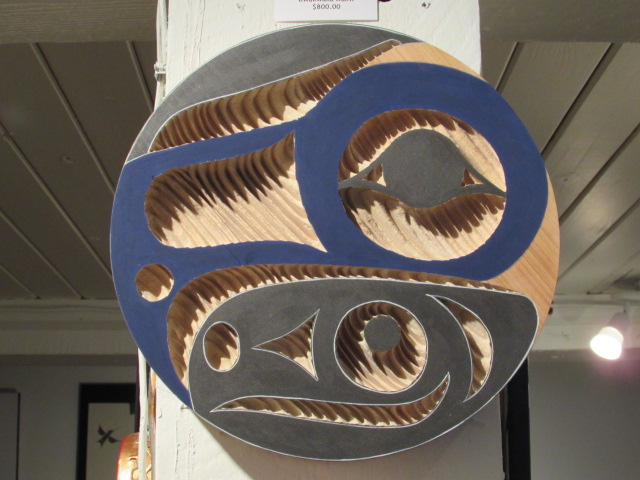 Eagle Panel; 1' diameter; red cedar, acrylic