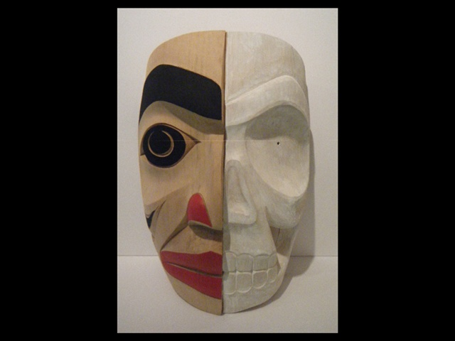 "DH: Ancestor Mask, red cedar, 16"" high"