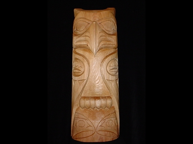 "Eagle Totem - Red Cedar 45"" Tall"