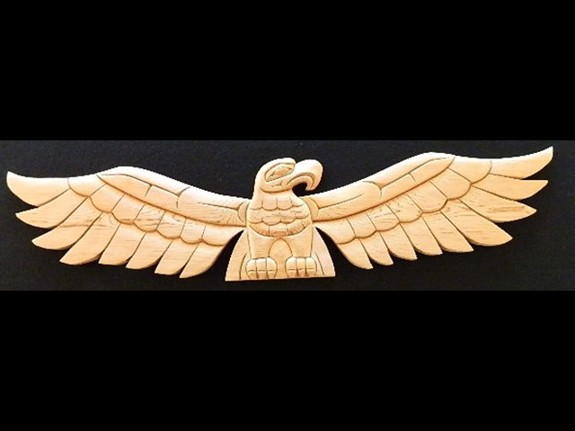 "Eagle Panel, red cedar, 50"" length"
