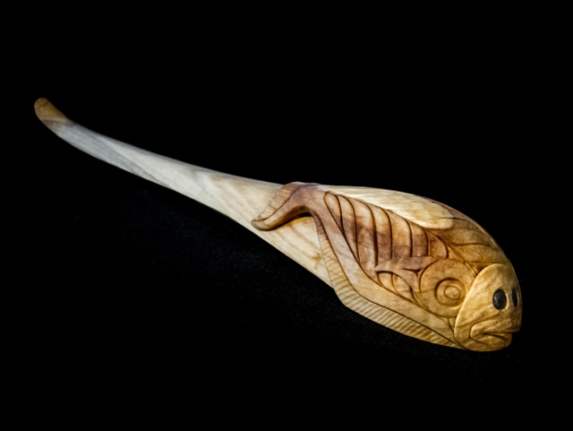 "JC: For the Love of Halibut Spoon, Poplar, 12"" with stand"