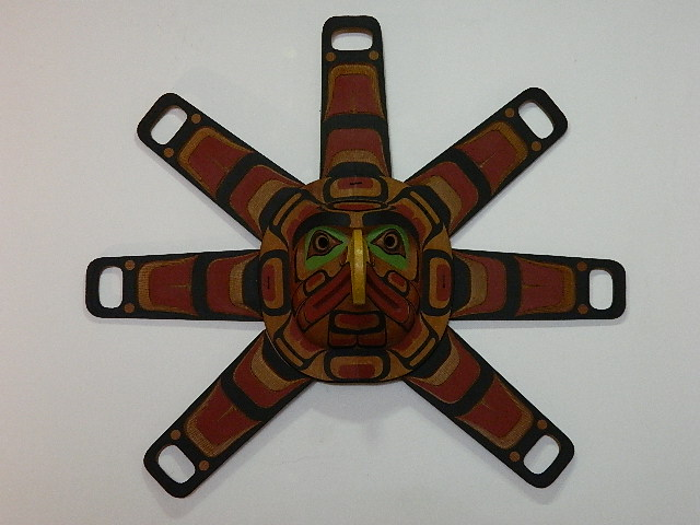 RH: Sun Mask with Eagle Face, 3' diameter