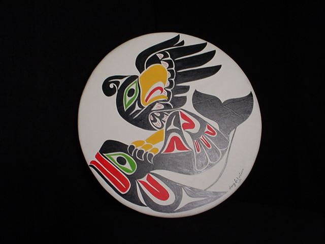 "* Thunderbird & Orca Drum - 18"" diameter"