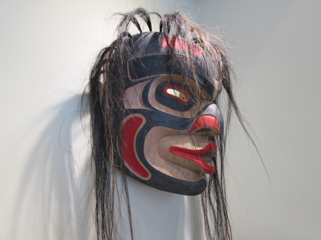 "* ""Dzunakwa Mask"", 16"" high, red cedar"