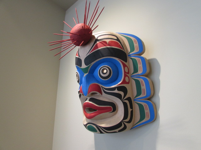 "TH: Kumakwa Mask, 16"" high, red cedar - Click Image to Close"