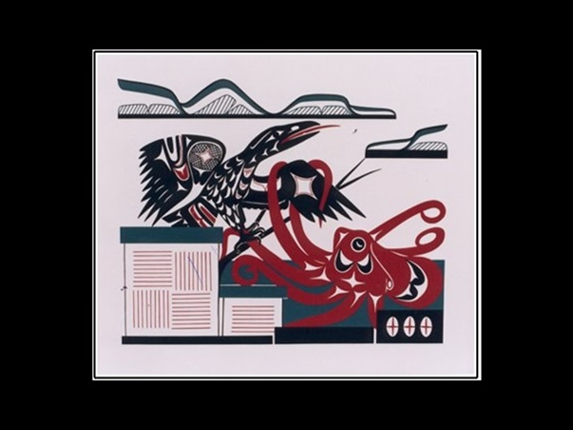 PA: Lady Octopus and Raven, serigraph