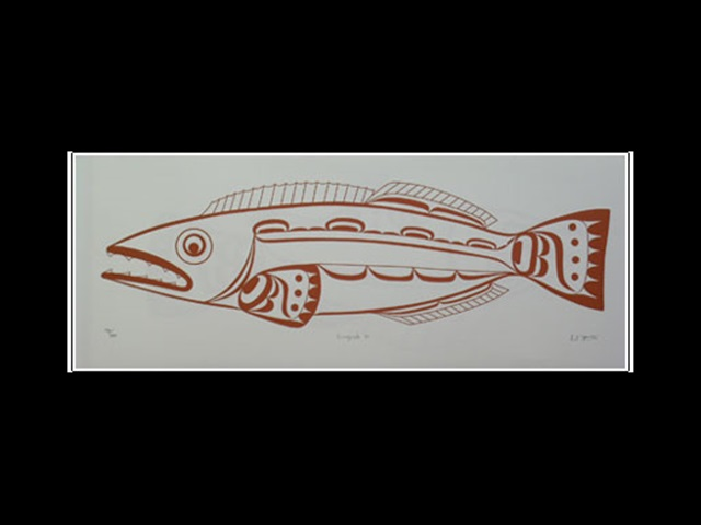 CH: Lingcod, serigraph