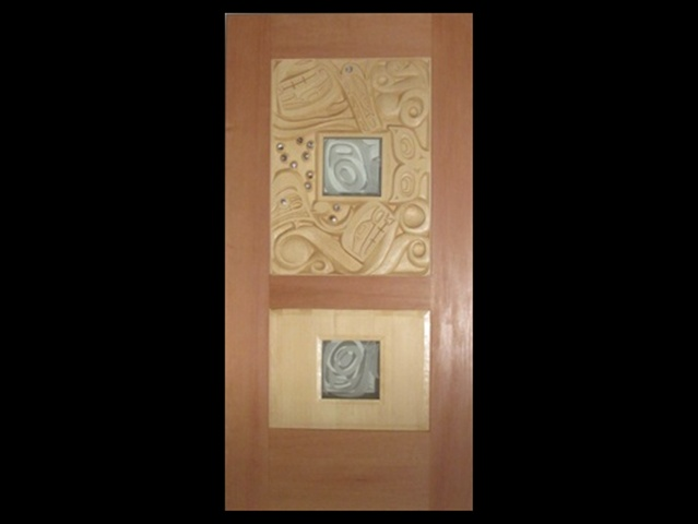 Orca Door; Yellow Cedar, Fir, Glass