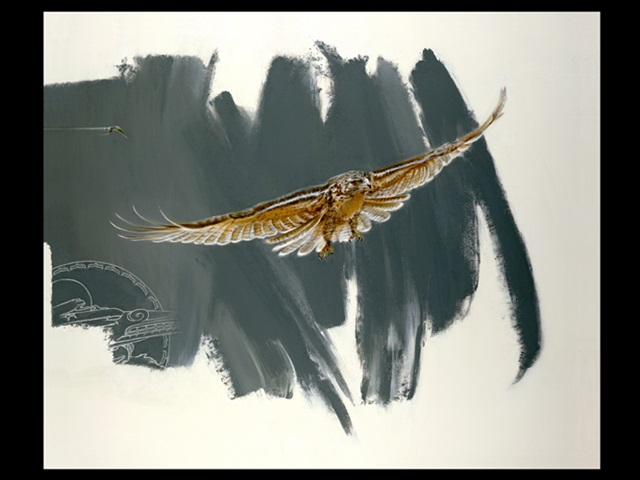 IB: Hawk, giclee limited edition print - Click Image to Close