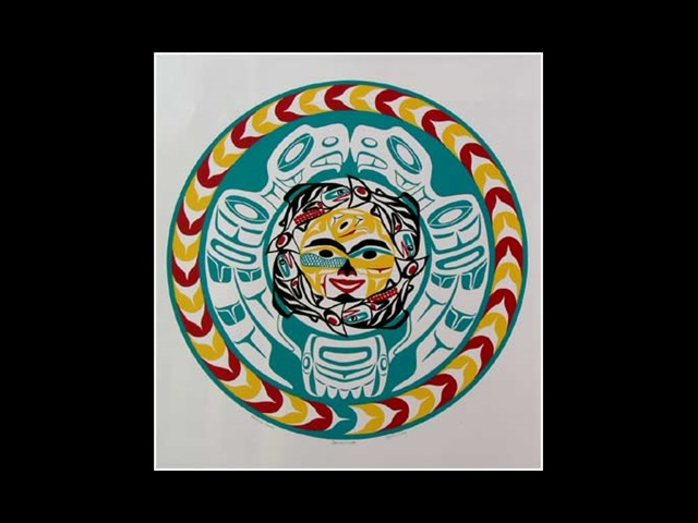 PA: Salmon Moon, serigraph - Click Image to Close