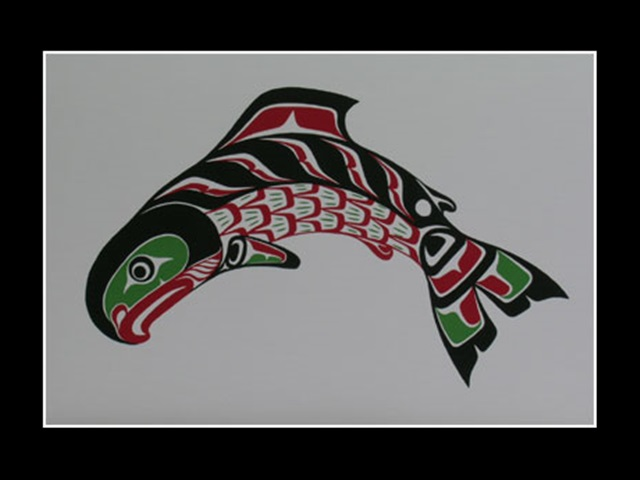 RH: Kwagiulth Salmon, serigraph - Click Image to Close