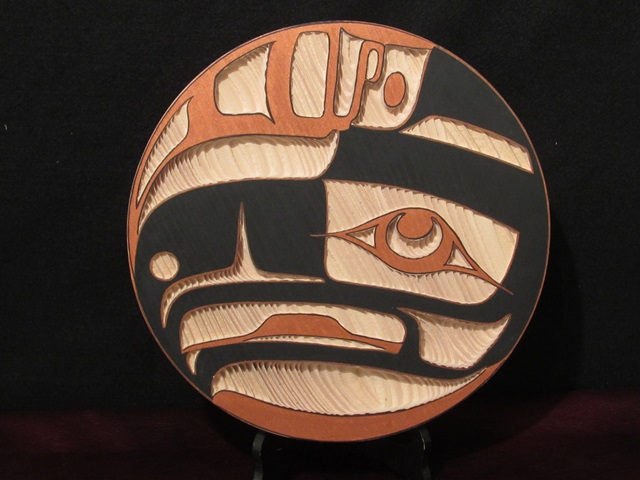 Eagle Panel, red cedar, 1' diameter
