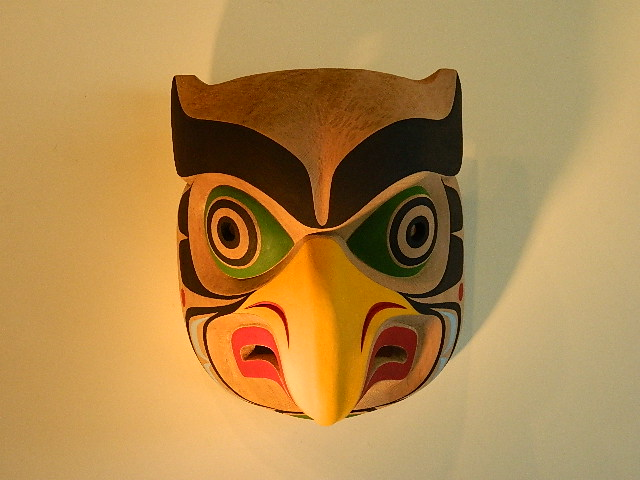 "TH: Owl Mask, 16"" high"