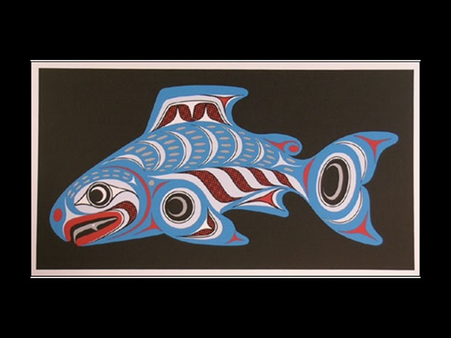 JW: Salmon, serigraph - Click Image to Close