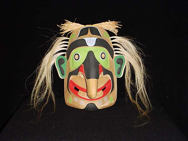TH: Fools Mask, red cedar