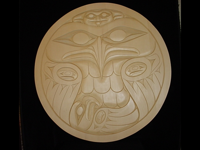 Eagle's Gift - 3' diameter, yellow cedar