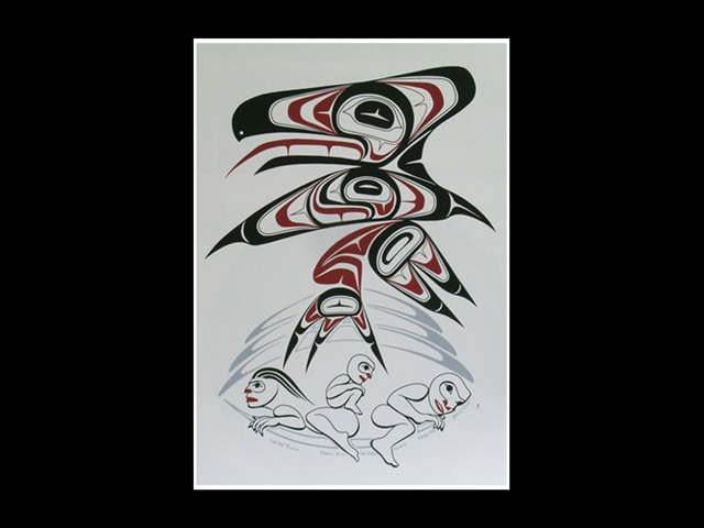 WY: Raven and the First People, serigraph